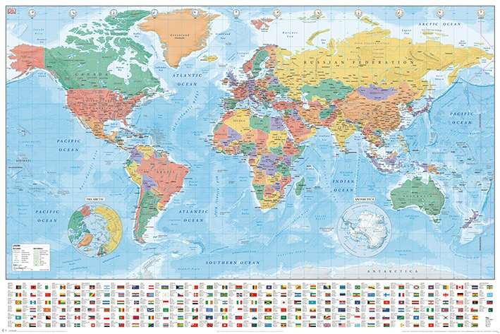 World Map (Flags and Facts)