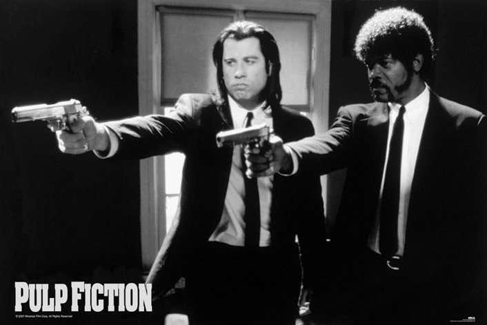 PULP FICTION (B&W GUNS) - P133