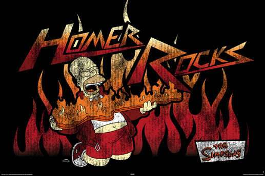Simpsons - homer rocks - P136