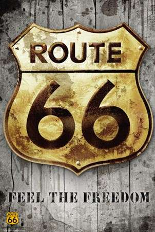 ROUTE 66 - sign - P319