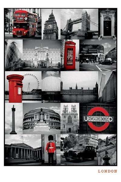 London (Red Collage) - P226