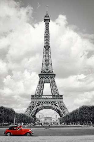 PARIS - red car - P243