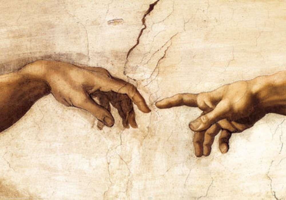 MICHELANGELO BUONARROTI - creation hands - P256