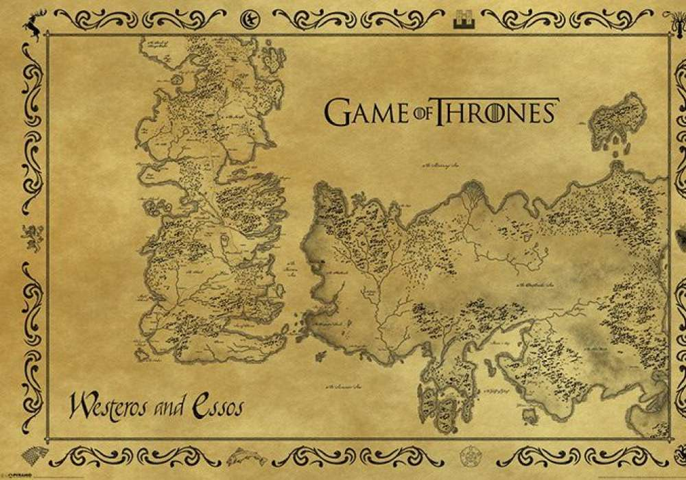 GAME OF THRONES (MAP ANTIQUE STYLE)