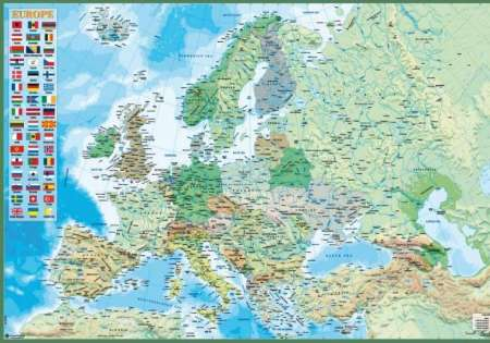 Map of Europe (Physical and Political) - P278