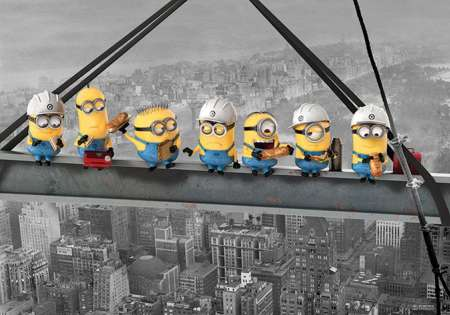 Despicable Me (Minions Lunch On A Skyscraper) - P303
