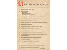 INSTRUCTIONS FOR LIFE (DALAI LAMA) - P267