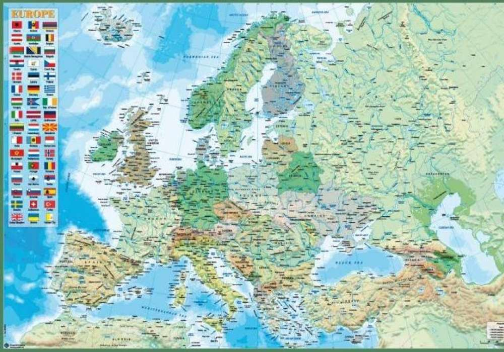 Map of Europe (Physical and Political)