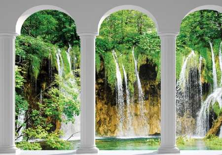 Waterfall window wall- For Wall