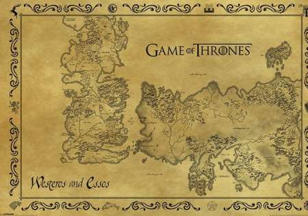 GAME OF THRONES (ANTIQUE MAP)
