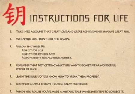 INSTRUCTIONS FOR LIFE (DALAI LAMA)