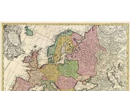 Antique Style European Map