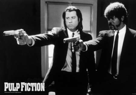 PULP FICTION (B&W GUNS)