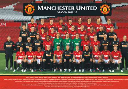 MANCHESTER UNITED team photo 12/13